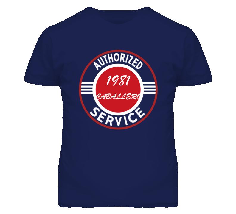 Authorized Service 1981 GMC CABALLERO Dark T Shirt
