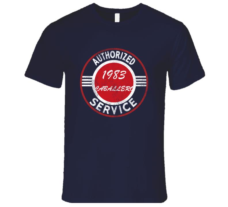 Authorized Service 1983 GMC CABALLERO Distressed Look Dark T Shirt