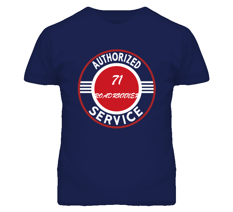 Authorized Service 1971 PLYMOUTH ROADRUNNER Dark T Shirt