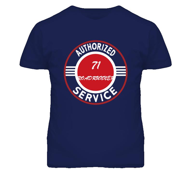 Authorized Service 1971 PLYMOUTH ROADRUNNER Dark T Shirt