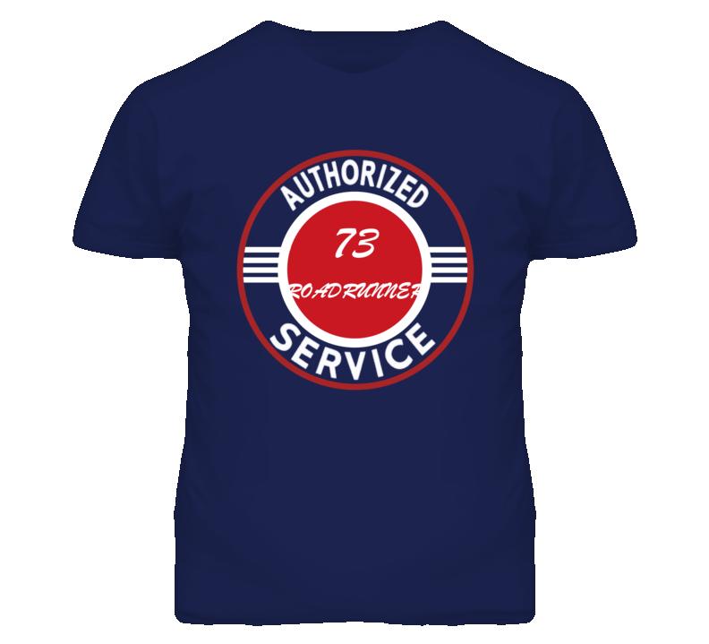 Authorized Service 1973 PLYMOUTH ROADRUNNER Dark T Shirt