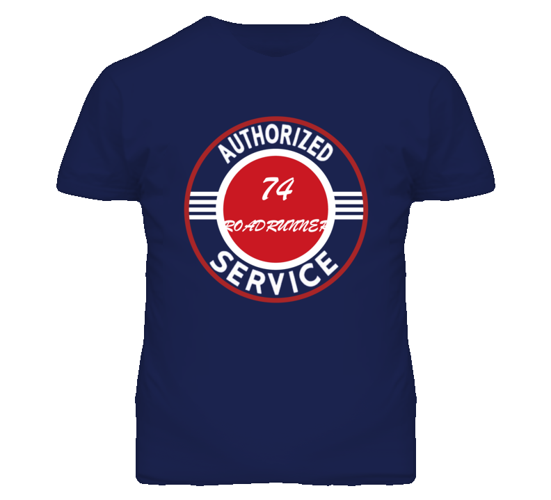 Authorized Service 1974 PLYMOUTH ROADRUNNER Dark T Shirt