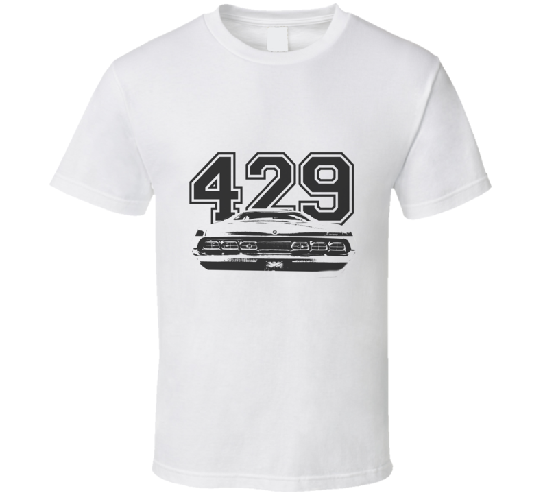 1970 MERCURY CYCLONE Rear Black Graphic Engine Size T Shirt