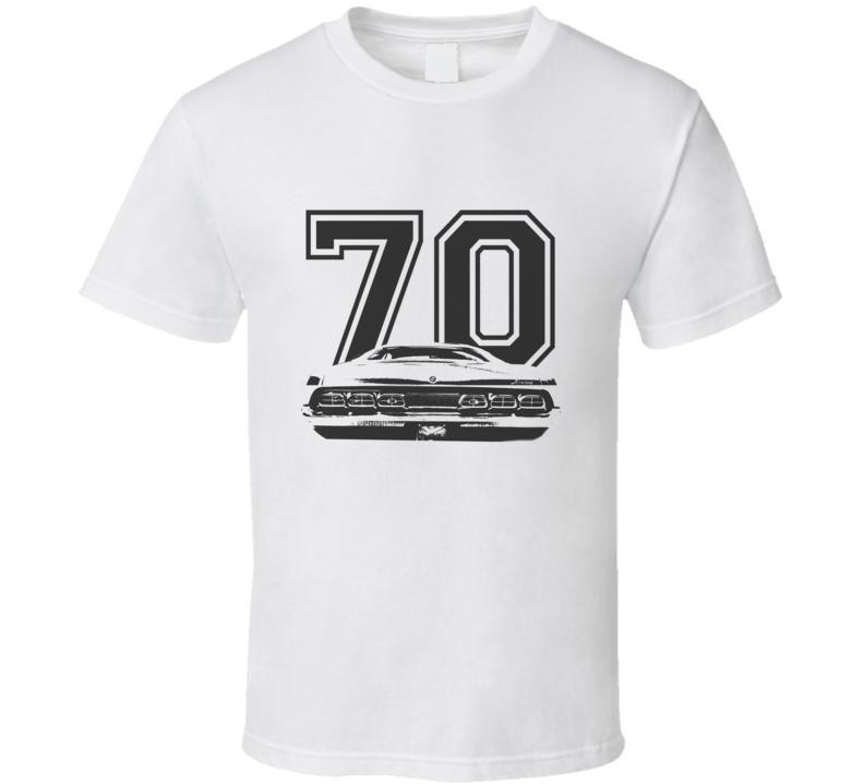 1970 MERCURY CYCLONE Rear Black Graphic Year T Shirt