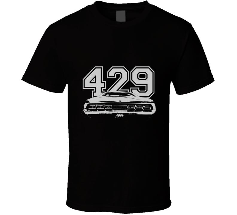 1970 MERCURY CYCLONE Rear White Graphic Engine Size T Shirt
