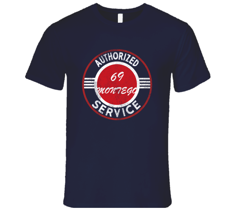 Authorized Service 1969 MERCURY MONTEGO Distressed Look Dark T Shirt