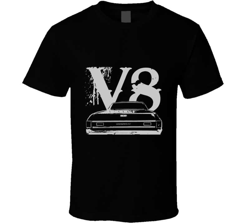 1969 CHEVROLET EL CAMINO SS Rear White Graphic V8 T Shirt