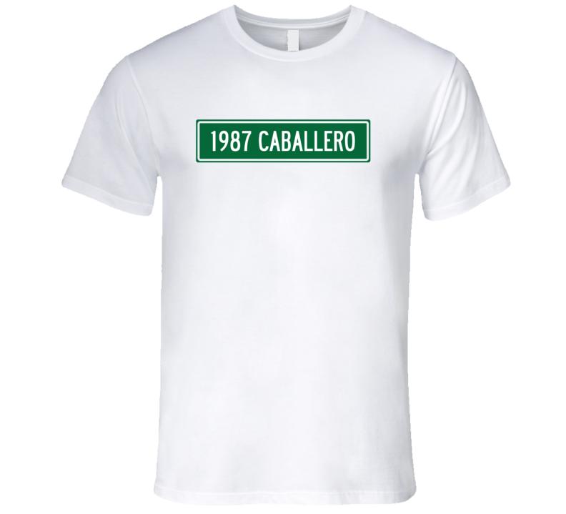 1987 GMC CABALLERO Street Sign Car T Shirt