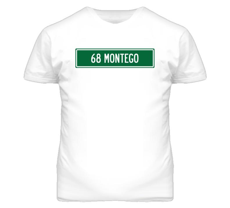 1968 MERCURY MONTEGO Street Sign Car T Shirt