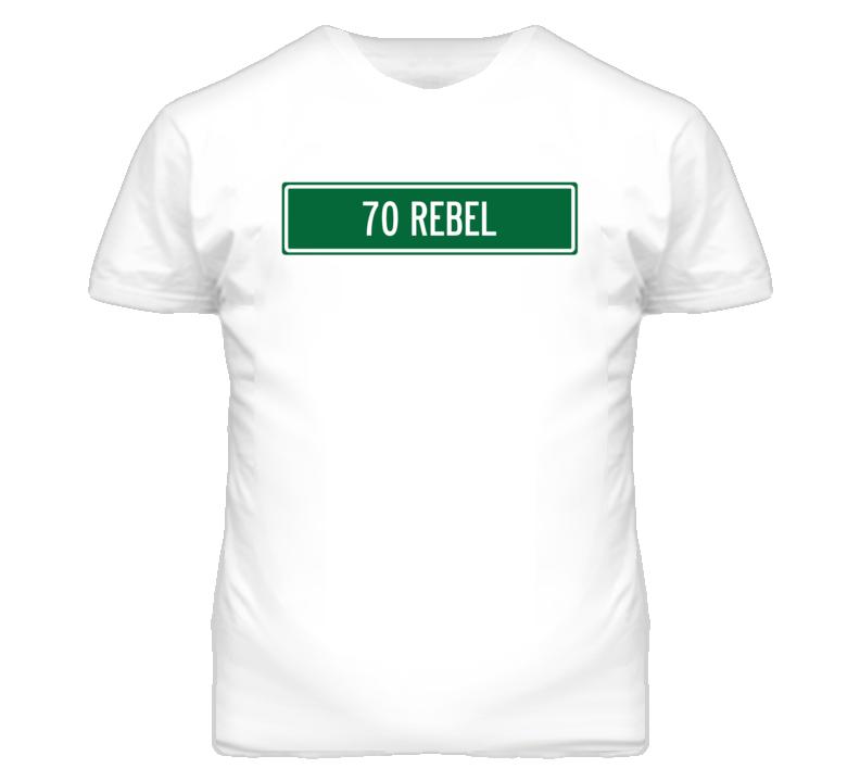 1970 AMC REBEL Street Sign Car T Shirt