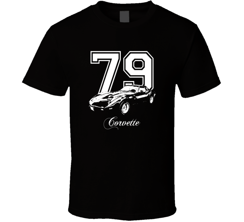 1979 Corvette Side View Penner Custom Dark Color T Shirt