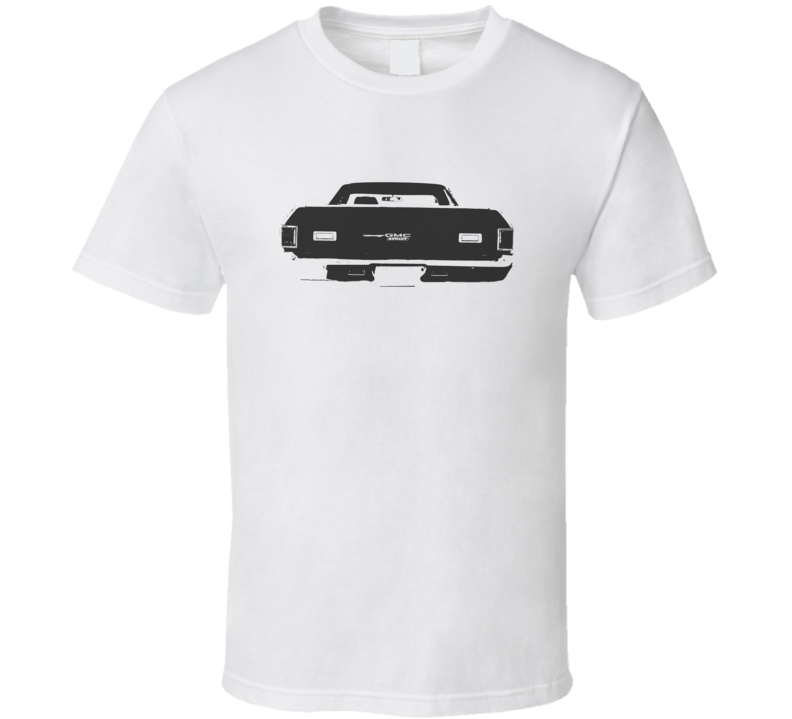 1972 GMC SPRINT Rear Black Graphic Light T Shirt