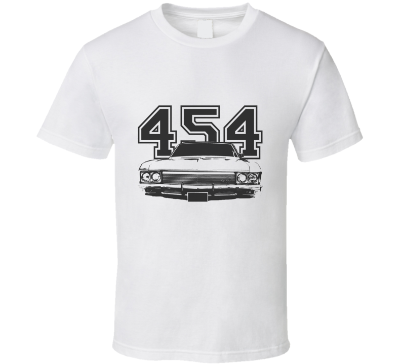 1970 CHEVY CAPRICE Grill View Black Graphic With Engine Size Light T Shirt
