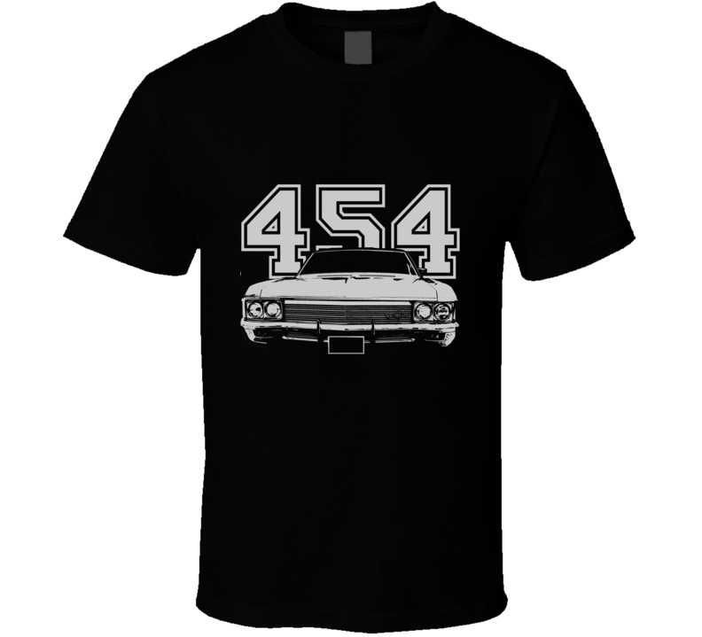 1970 CHEVY CAPRICE Grill View White Graphic With Engine Size Dark T Shirt