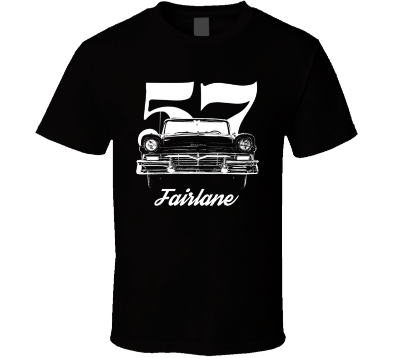 1957 Fairlane Grill View With Year And Model Dark Color T Shirt