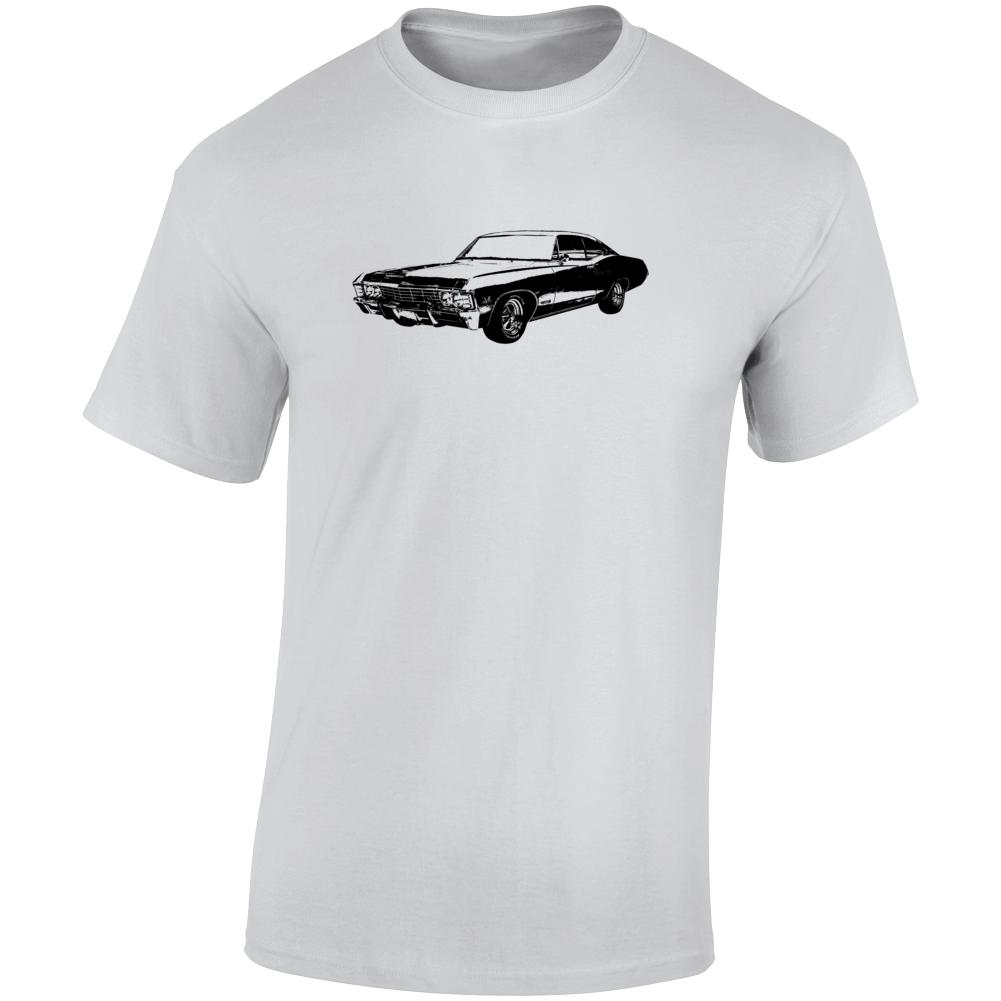 1967 Impala Three Quarter Angle View Light Color T Shirt