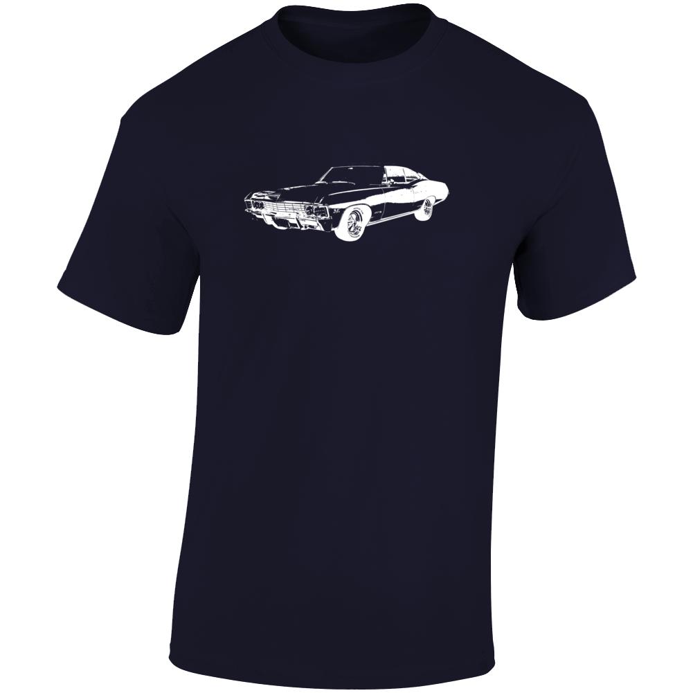 1967 Impala Three Quarter Angle View Dark Color T Shirt