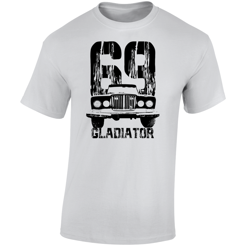 1969 Gladiator Grill View With Year And Model Name Light Color T Shirt
