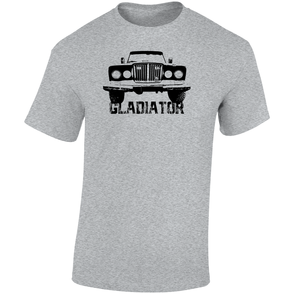 1969 Gladiator Grill View With Model Name Light Color T Shirt