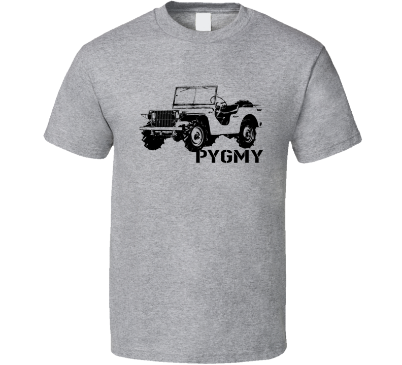 1940 Pygmy Army Jeep Three Quarter Angle View With Model Name Light Color T Shirt