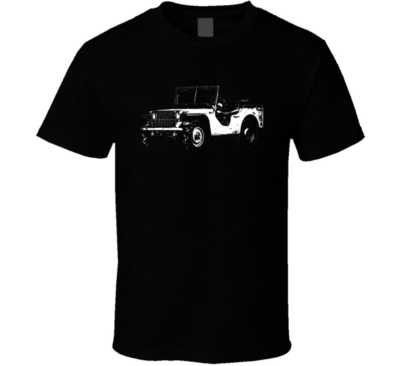 1940 Pygmy Army Jeep Three Quarter Angle View Dark Color T Shirt