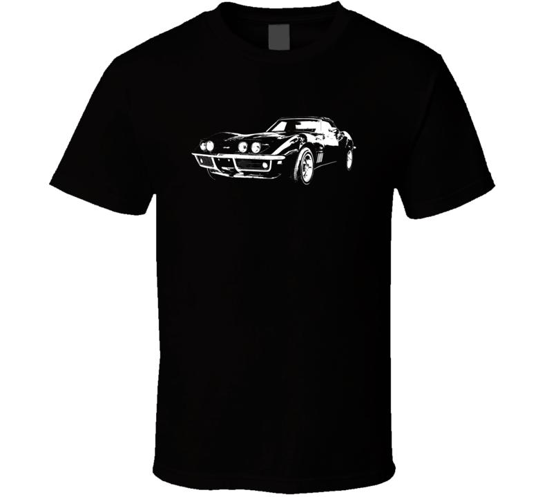 1969 Corvette Three Quarter View Dark Color T Shirt