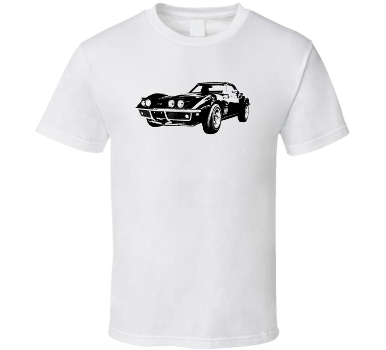 1969 Corvette Three Quarter View Light Color T Shirt