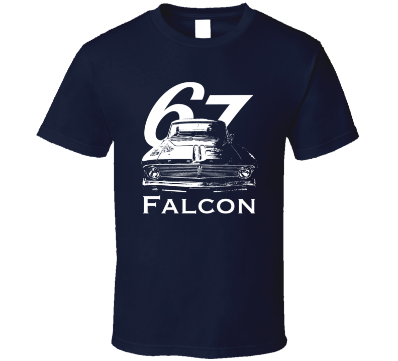 1967 Falcon Grill View With Year And Model Dark Color T Shirt