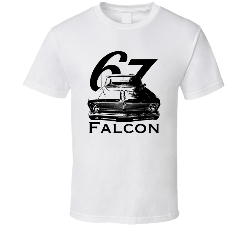1967 Falcon Grill View With Year And Model Light Color T Shirt