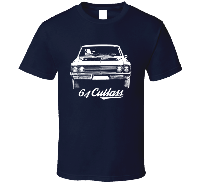1964 Cutlass Grill View With Model Year Dark Color T Shirt