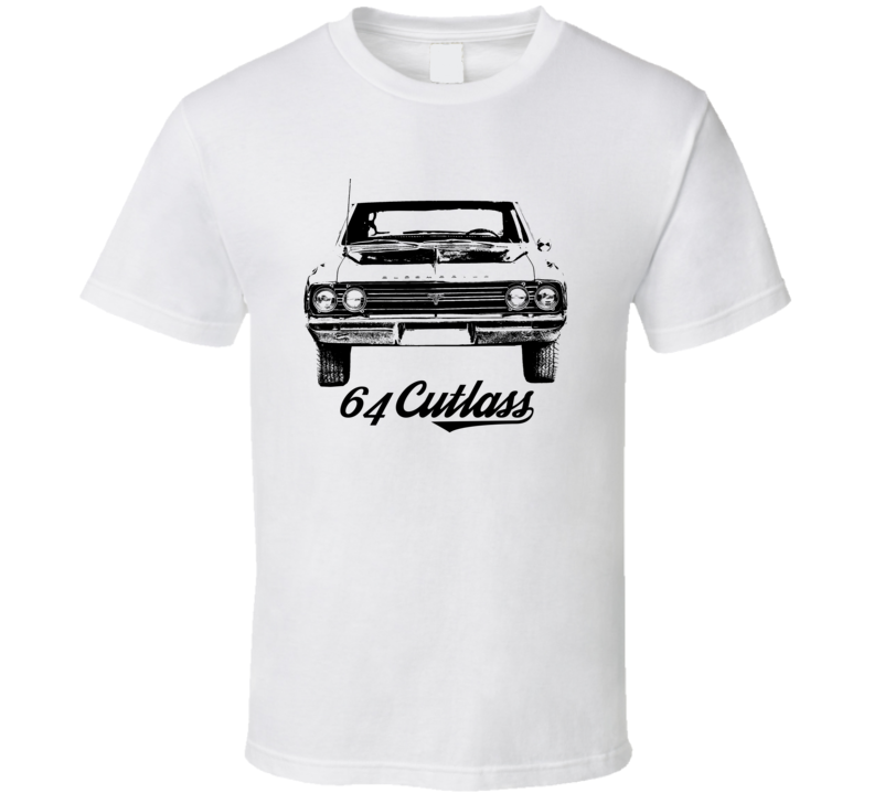 1964 Cutlass Grill View With Model Year Light Color T Shirt
