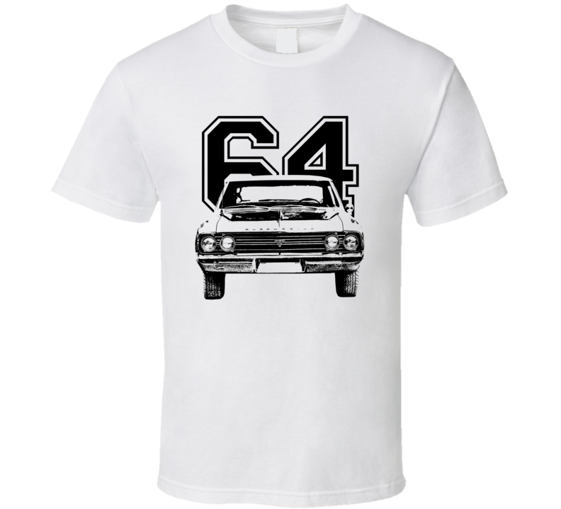 1964 Cutlass Grill View With Year Light Color T Shirt