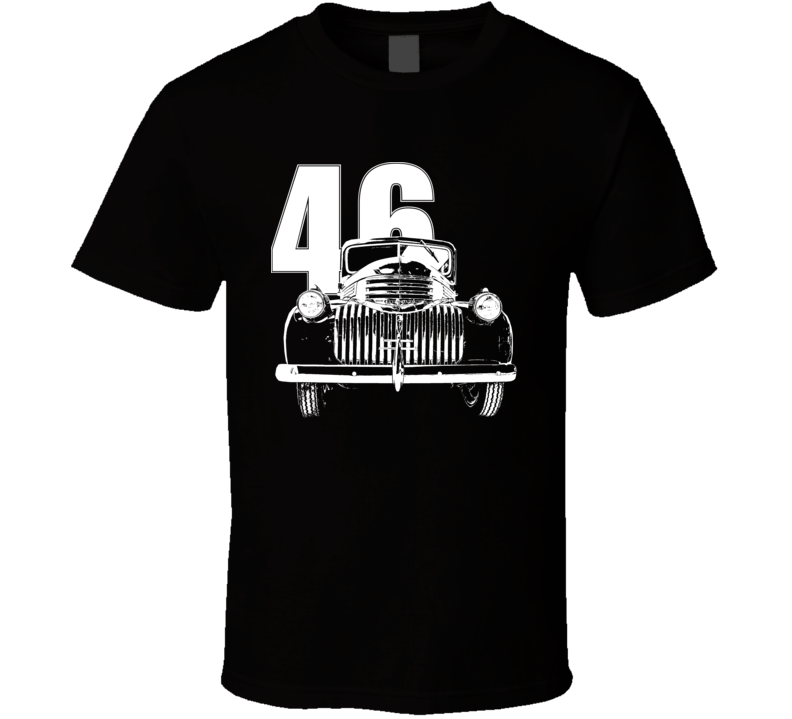 1946 Chevy Pickup Grill View With Year Dark Color T Shirt