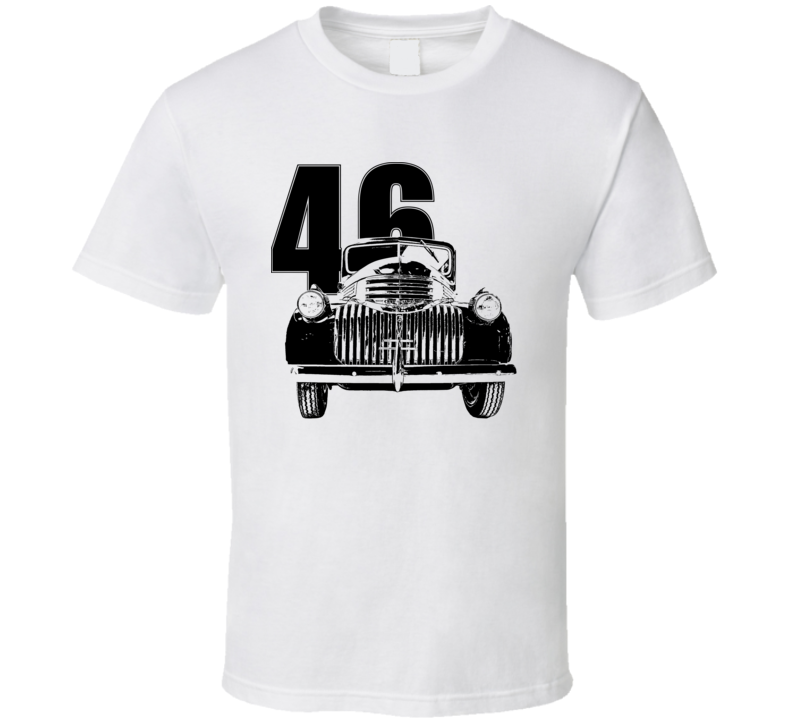 1946 Chevy Pickup Grill View With Year Light Color T Shirt