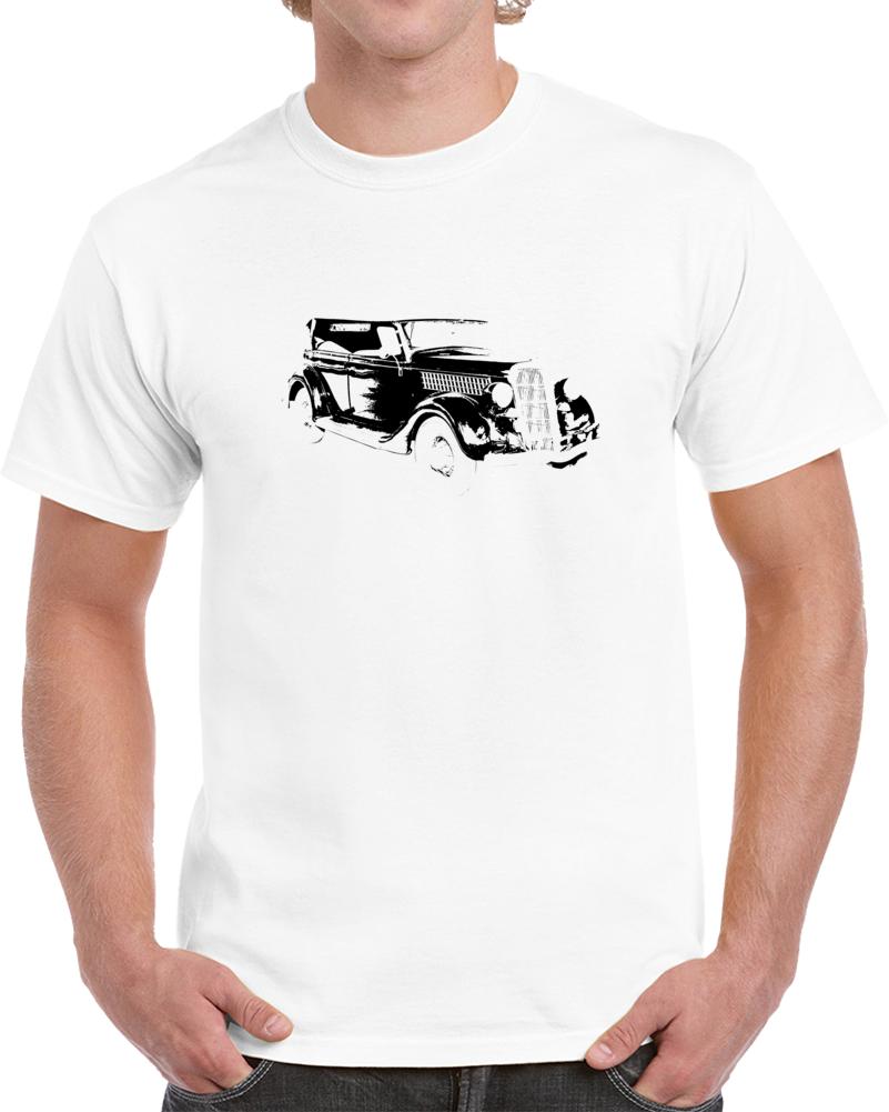 1935 Deluxe Phaeton Three Quarter Angle View Light Color T Shirt