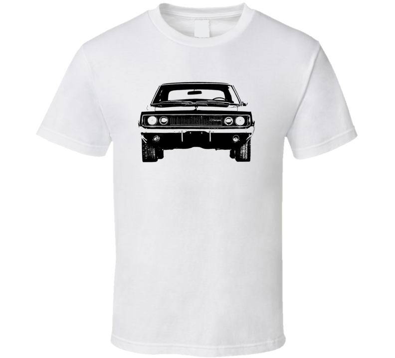 1968 Charger Rt Grill View Light Color T Shirt