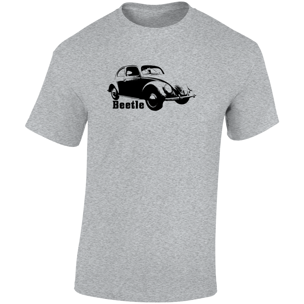1938 V W Beetle Three Quarter Angle View With Model Name Light Color T Shirt