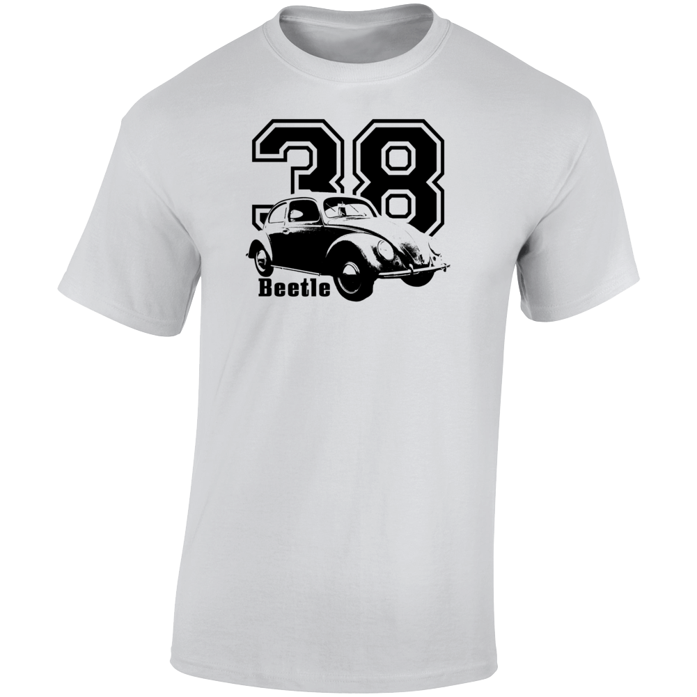 1938 V W Beetle Three Quarter Angle View With Year And Model Name Light Color T Shirt