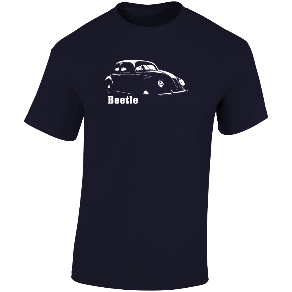 1938 V W Beetle Three Quarter Angle View With Model Name Dark Color T Shirt