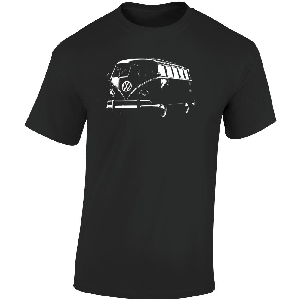 1961 V W Type 2 Transporter Three Quarter Angle View Dark Color T Shirt