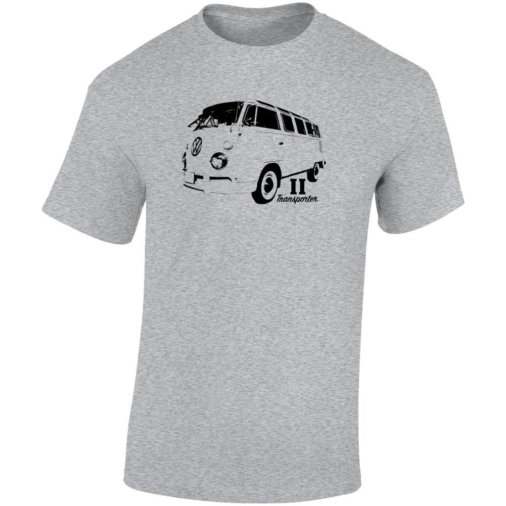 1964 V W Type 2 Transporter Three Quarter Angle View With Model Name Light Color T Shirt