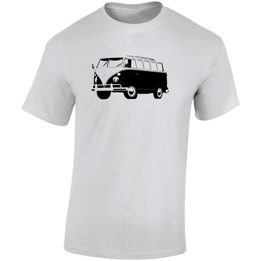 1965 V W Type 2 Transporter Three Quarter Angle View Light Color T Shirt