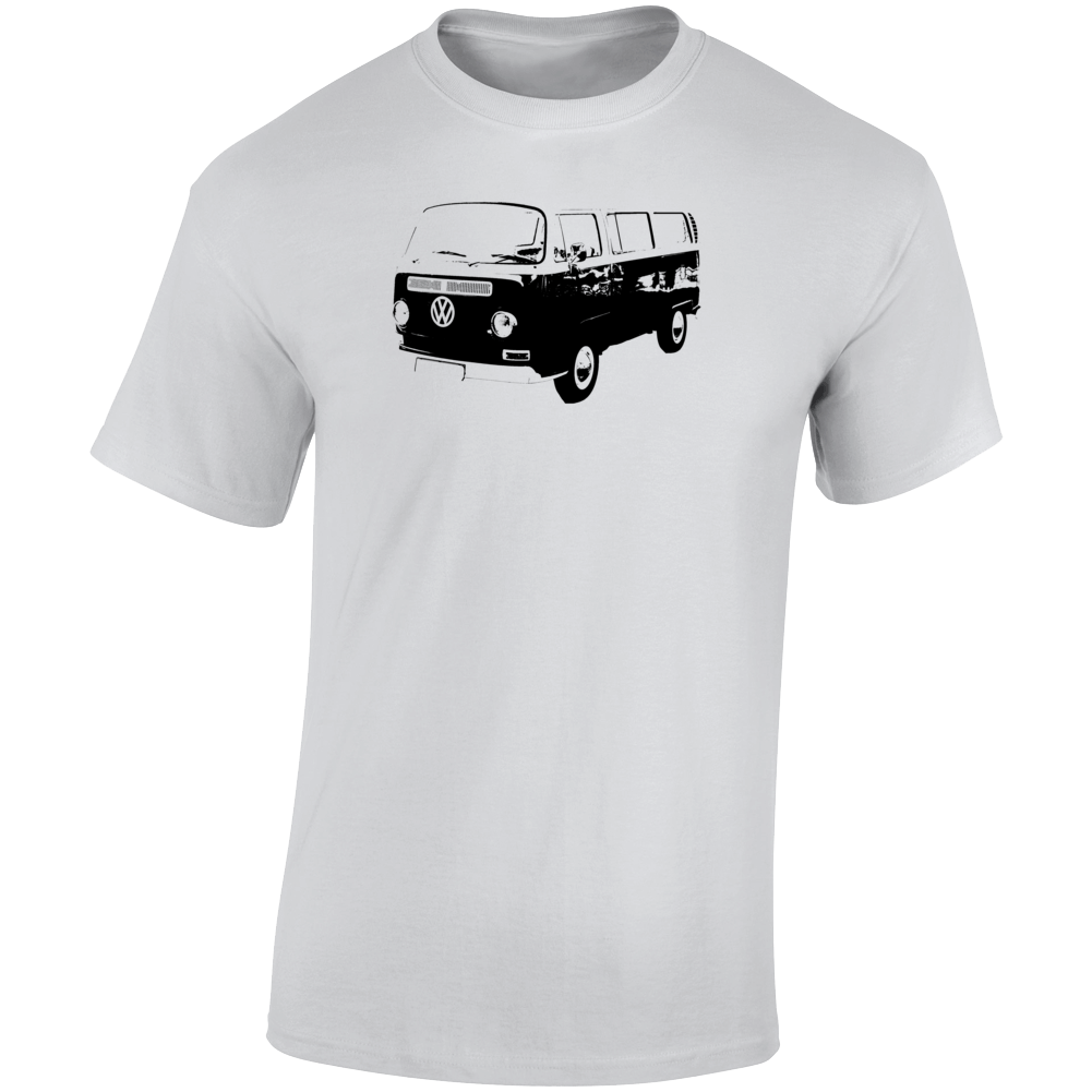 1968 V W Type 2 Transporter Three Quarter Angle View Light Color T Shirt