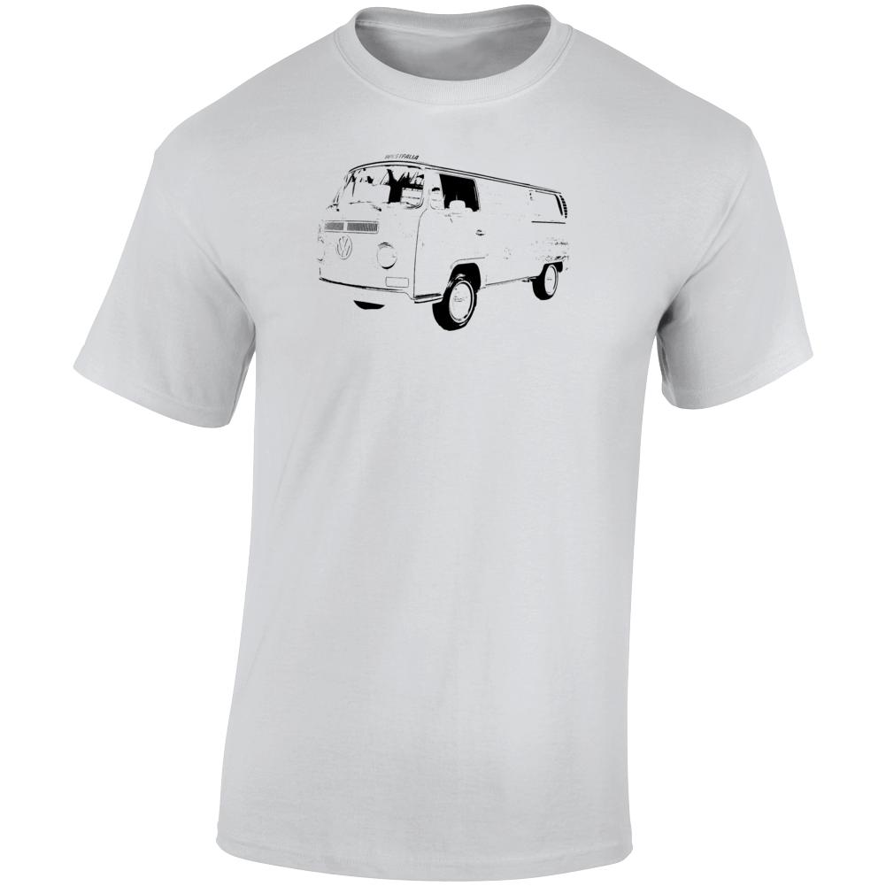 1969 V W Type 2 Westfalia Three Quarter Angle View Light Color T Shirt