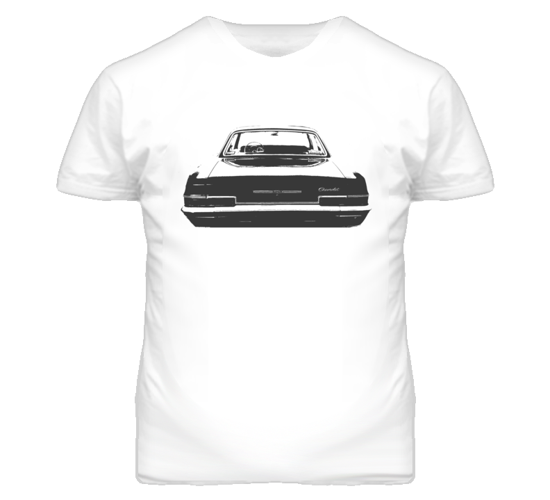 1966 CHEVY BEL AIR Faded Look Rear View Black Graphic Light T Shirt