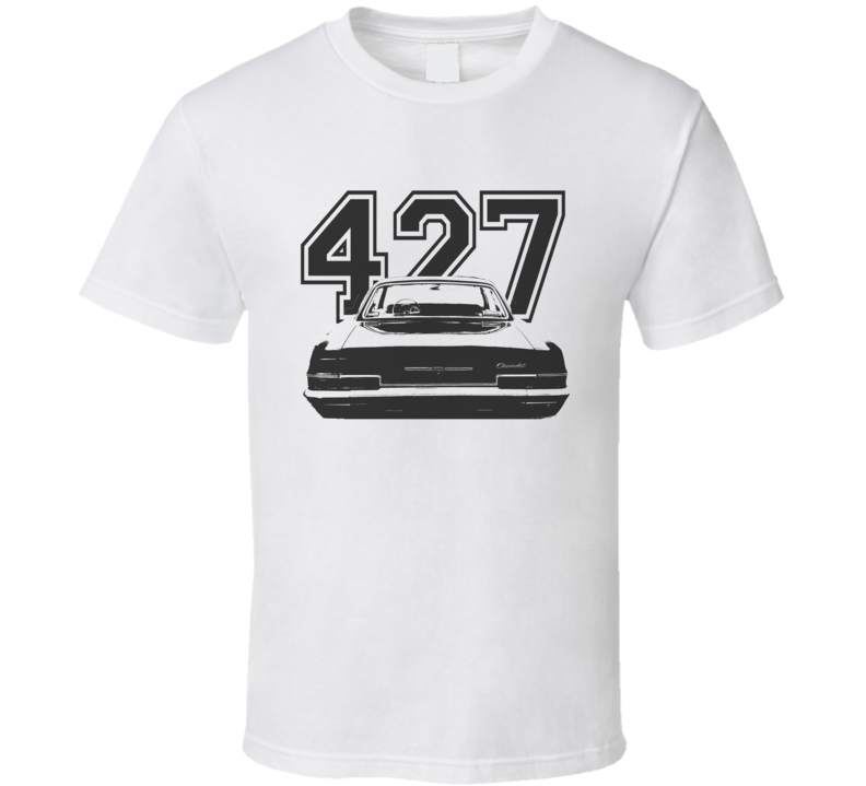 1966 CHEVY BEL AIR Faded Look Rear View Black Graphic With Engine Light T Shirt