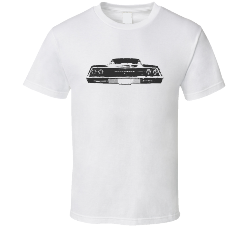 1969 CHEVY BEL AIR Faded Look Rear View Black Graphic Light T Shirt
