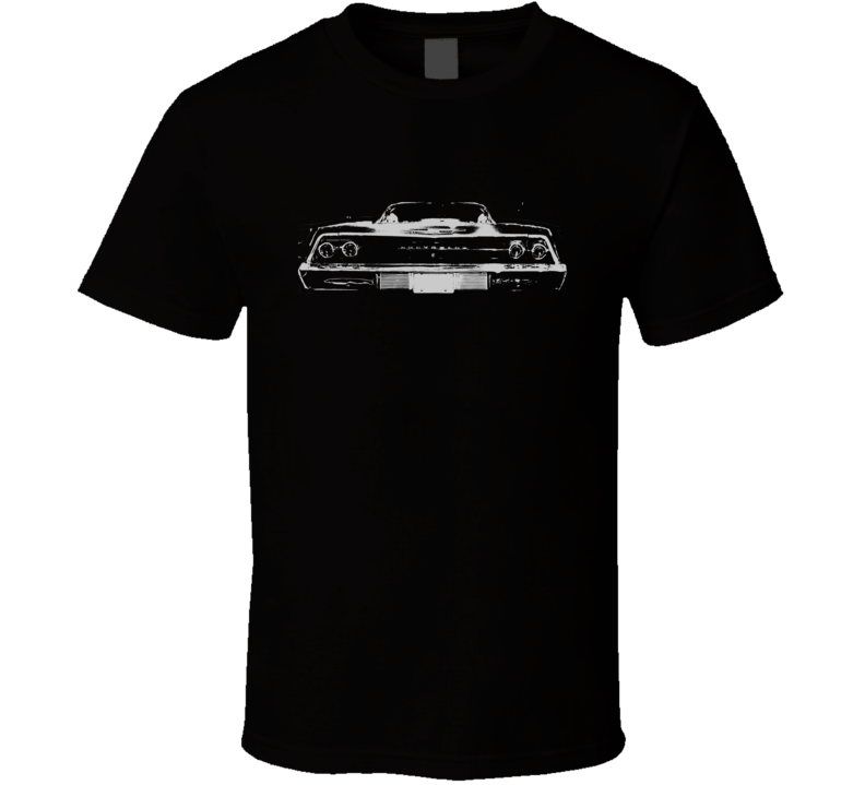 1969 CHEVY BEL AIR Faded Look Rear View White Graphic Dark T Shirt