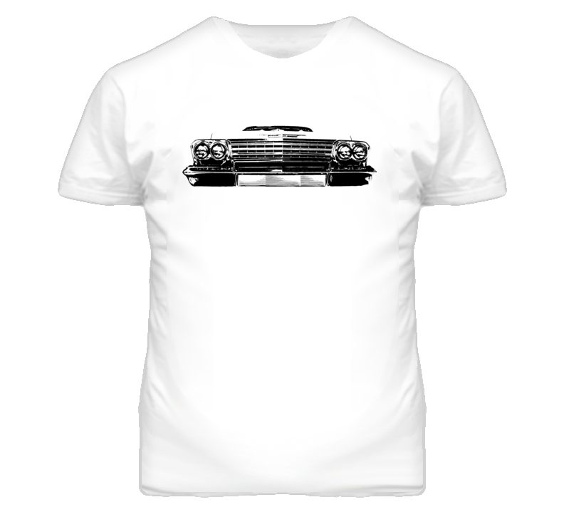 1962 Chevy Impala Grill View Faded Look Light T Shirt