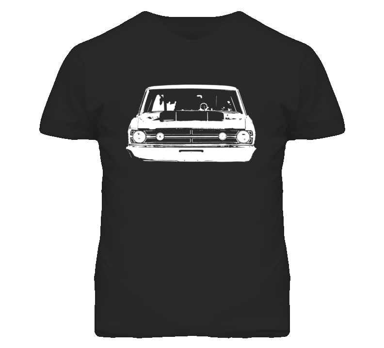 1968 Dodge Dart Hood Scoop Grill View Dark T Shirt